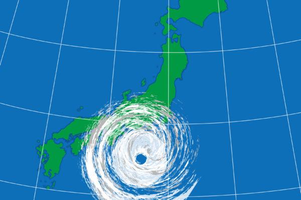 台風のイラスト