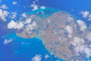 上空から観た伊良部島