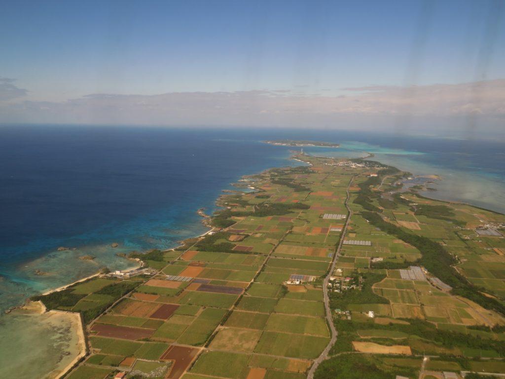 宮古島上空写真